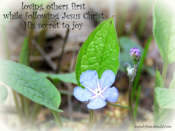 What is the secret to joy? Wendy L. Macdonald blog