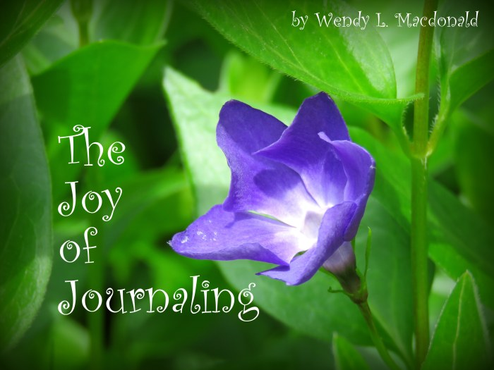 The Joy of Journaling: How Journal Writing Helps Beat the Blues Wendy L. Macdonald blog