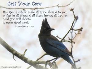 Cast Your Cares Devotional based on Psalm 55 by Wendy L. Macdonald wendylmacdonald.com