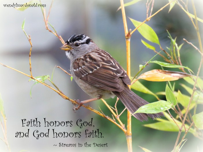 God Restores the Faithful Wendy L. Macdonald