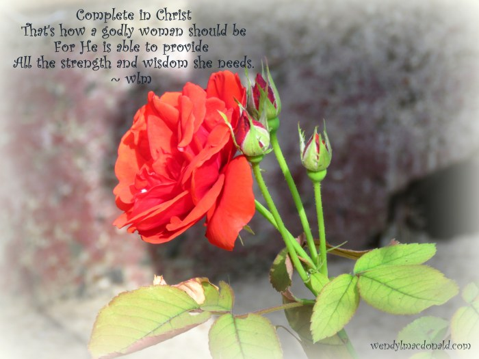 Complete in Christ Wendy L. Macdonald