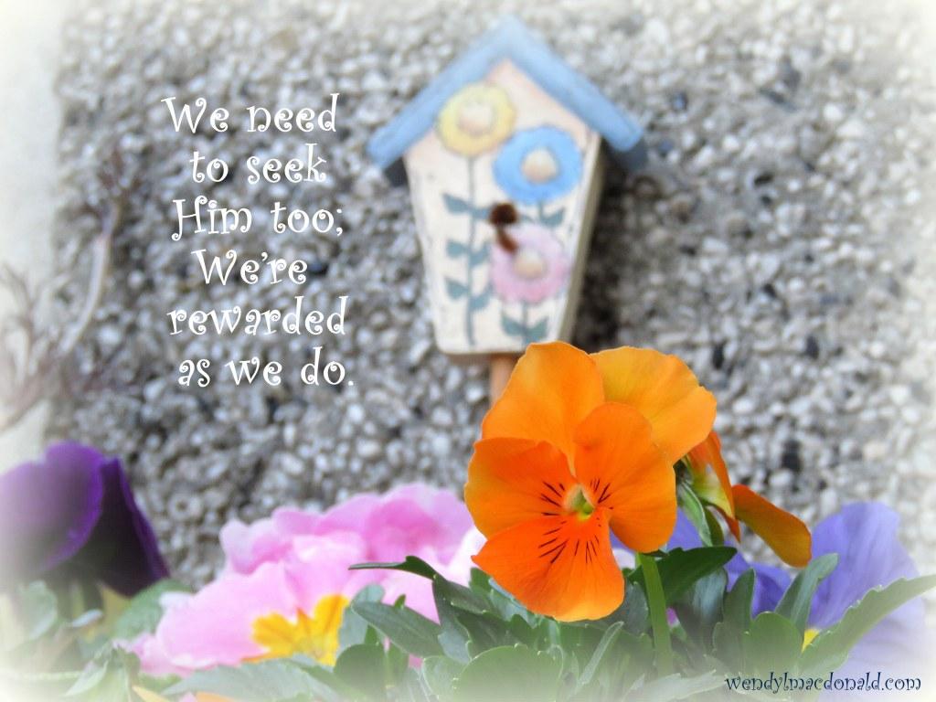 God Rewards Seekers by Wendy L. Macdonald